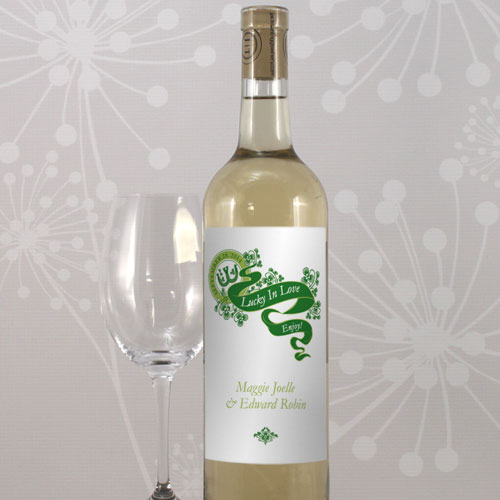 Irish Themed Personalized Wine Label Stickers Available in 5 colors