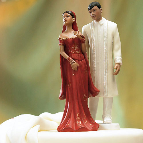 Traditional Indian Bride And Groom Cake Topper